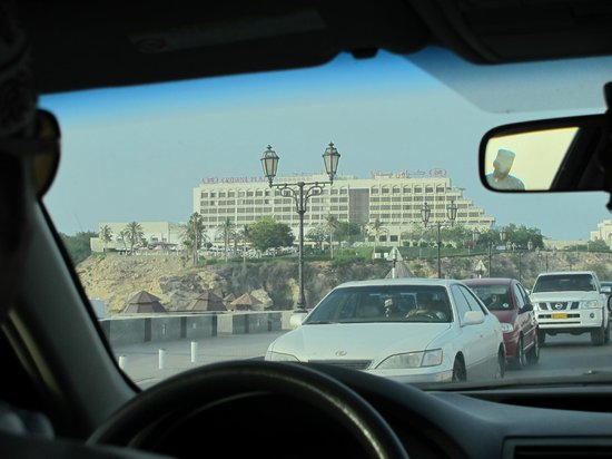 Crowne Plaza Muscat: as seen when approaching