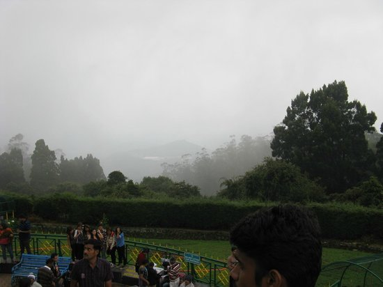 Doddabetta Peak: The cloud cover on the mountains