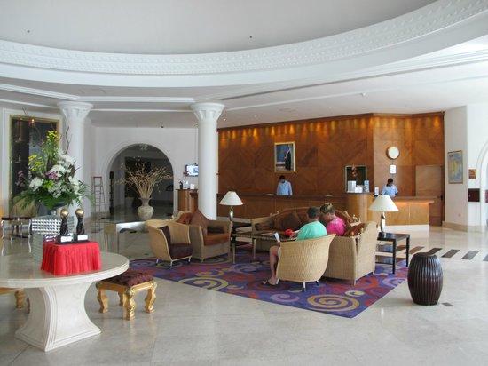 Hilton Salalah: the reception area