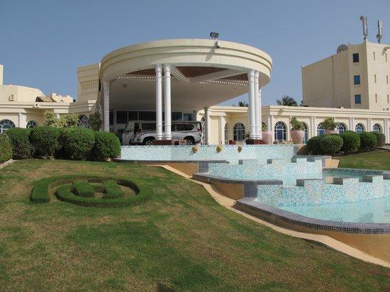 Hilton Salalah: the entrance