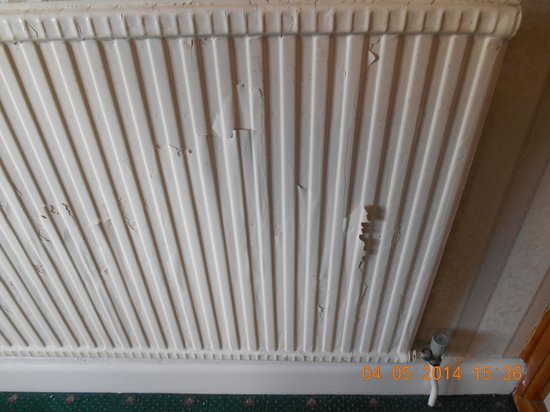 Torbay Court Hotel: One of the radiators at the top of main staircase