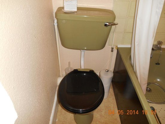 Torbay Court Hotel: Dated bathroom and uneven toilet and cistern