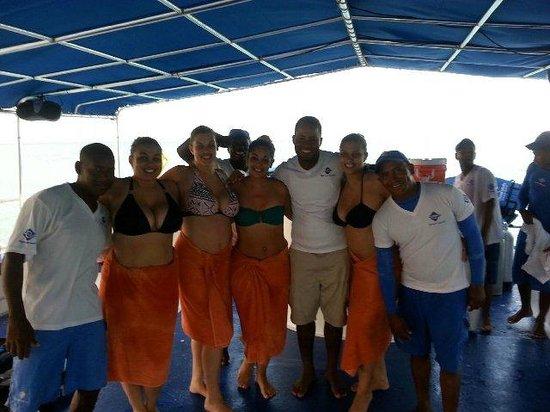 Ocean Adventures Bavaro Splash : us with the great crew!!