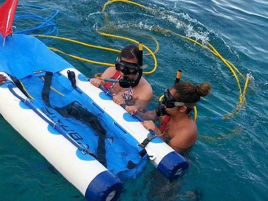 Ocean Adventures Bavaro Splash : learning how to use the oxygen
