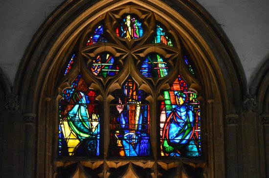 Llandaff Cathedral: stained glass