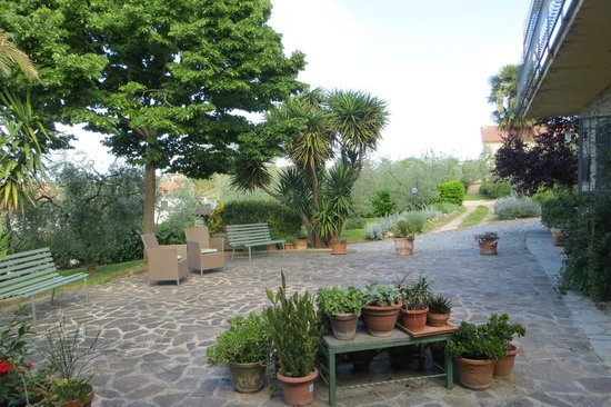 L'Uliveto: giardino antistante