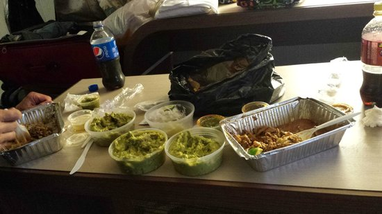 Momocho: Carnitas/Wild Boar/Guac Sampler. Notice - these are not sampler size guacamole servings!