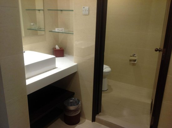 Sama-Sama Express KL International Airport: Washbasin, toilet & shower