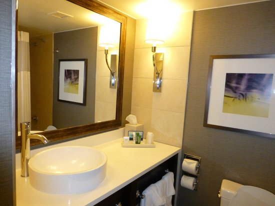 Hilton Harrisburg: Junior suite bathroom
