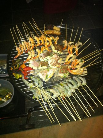 Exclusive Bali Bungalows: great bbq! thank you widi!