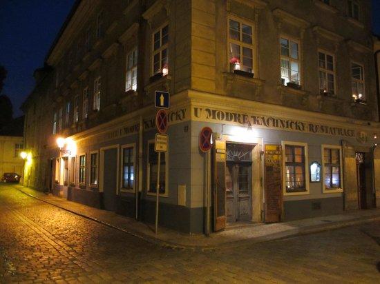 Restaurant U Modre kachnicky : Aussenansicht 1