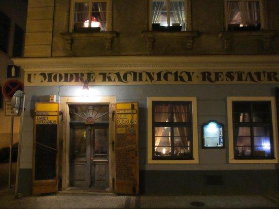 Restaurant U Modre kachnicky : Aussenansicht 2