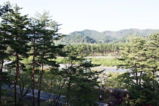 Kurobe Kanko Hotel: Side view from my room