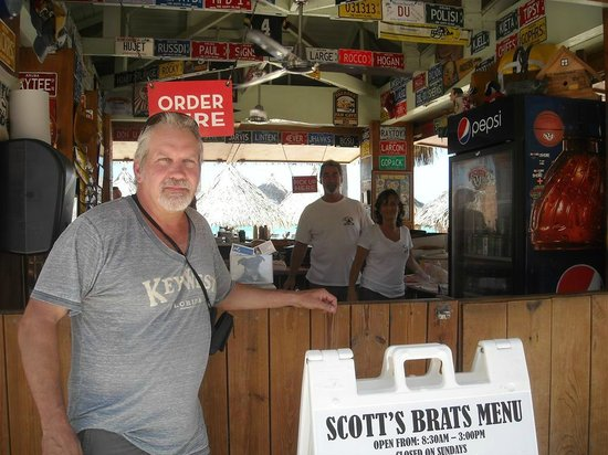 With Scott and Leslie at Scott's Brats