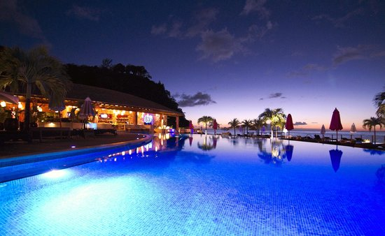 Buccament Bay Resort - TEMPORARILY CLOSED: Pool at night