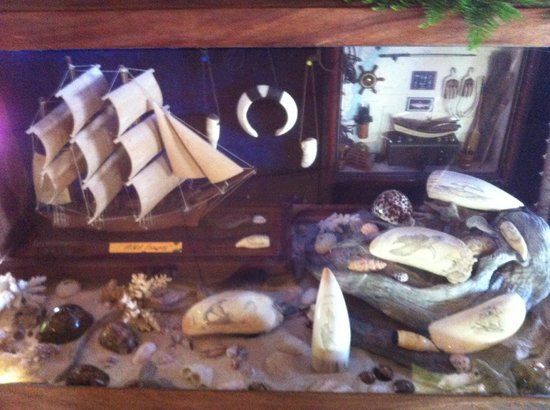 The Boat Shed Bar & Grill: one of the Boat Shed displays