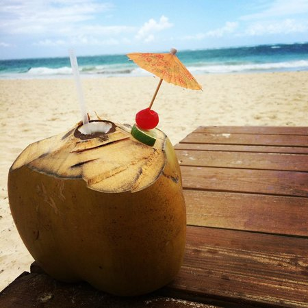 Paradisus Punta Cana Resort: fresh cut coconut