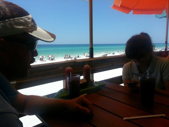 Pompano Joe's : View for lunch while we waited for meal