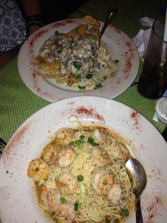 Steve's Marina Restaurant: both dishes.