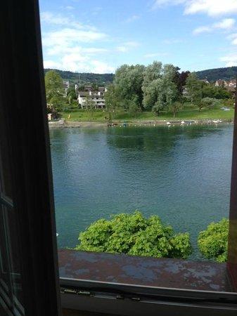 Hotel-Restaurant Zur Rheingerbe : Zimmeraussicht auf den Rhein