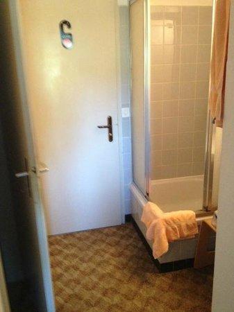 Hotel-Restaurant Zur Rheingerbe: Dusche im Zimmer