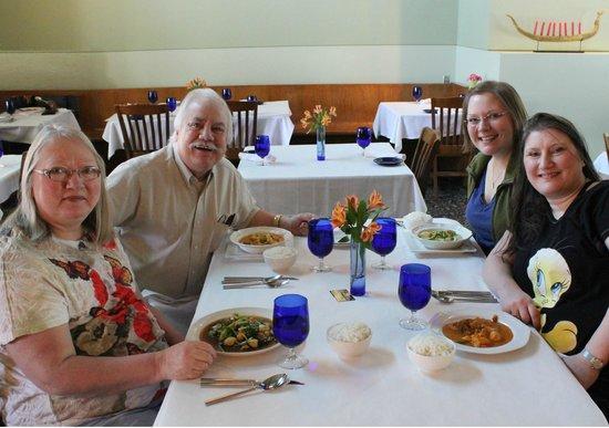 Blue Orchid: Pam, Eldon, Sydney, & Lindsey Everhart (L-R)
