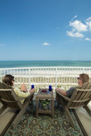 Summer Beach Resort View From Balcony