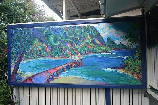 Garden Island Inn Hotel: ARTIST CAMINE FONTAINE'S MURAL