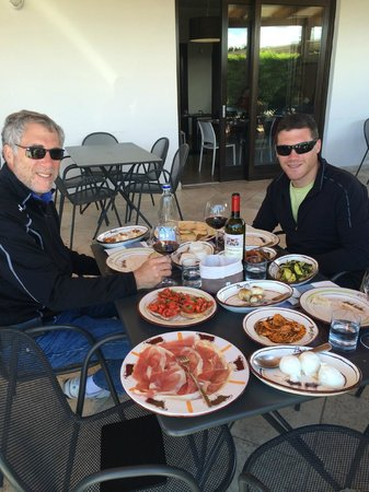 Sorrento Silver Star Tours: The tasting lunch at the Mozzarella farm.  So good!