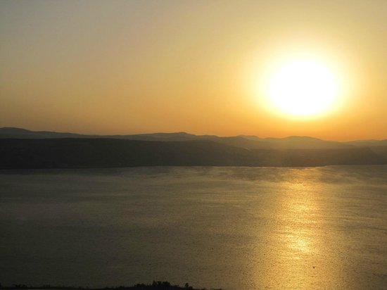 Peace Vista Country Lodge (Mitzpe Hashalom): Beautiful sunsets