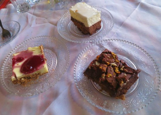 Parasia Rakadiko: Assortment of desserts