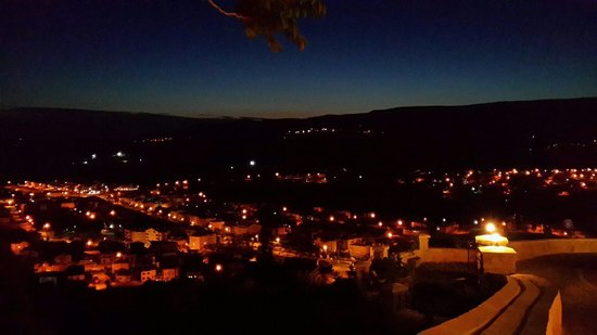 Kayakapi Premium Caves - Cappadocia: The view in front of our room at twilight 19 Mei 2014