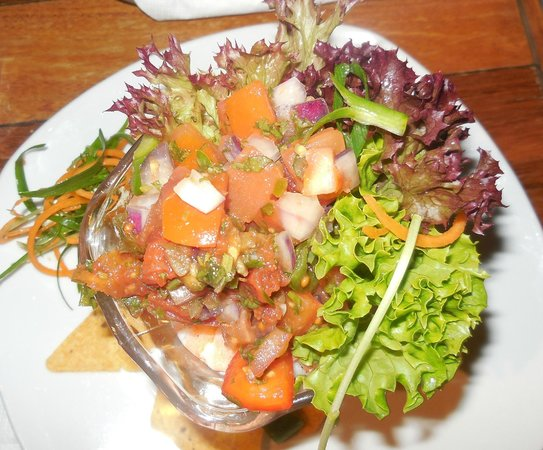 The Pickled Octopus: Entree - prawns with chili salsa