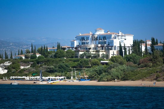 Anassa Hotel: view from the sea