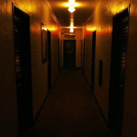 Freehand Miami: hallway at night