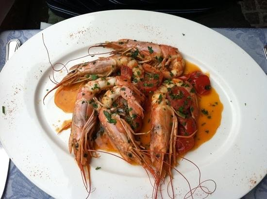 Ristorante Mediterraneo: Shrimp in spicy tomato sauce