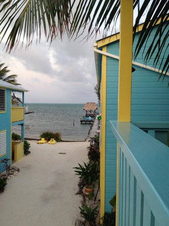 Colinda Cabanas : View from our 2nd level porch with Pier