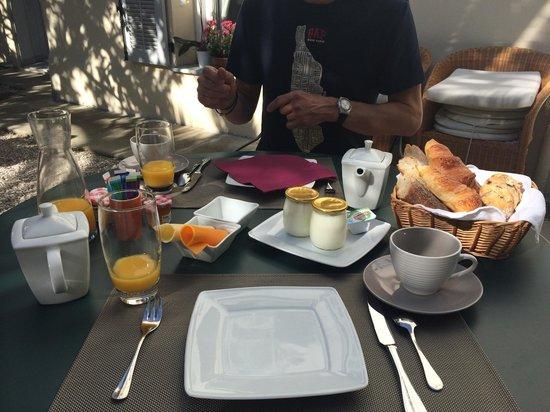 Hotel Villa les Cygnes : Breakfast!