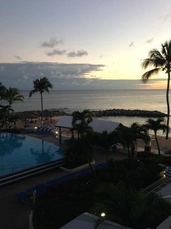 Flamingo Beach Resort: View from the balcony of a Pool View Suite