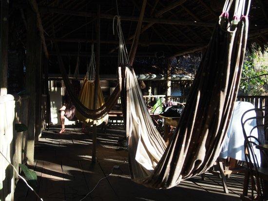 La Casa Fitzcarraldo: hammocks abound