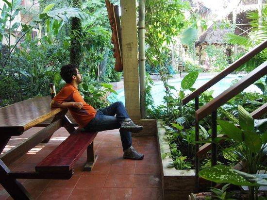 La Casa Fitzcarraldo: pool view, and where to eat breakfast