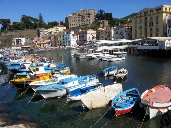 View from bagni delfinos towards marina grande harbour picture of