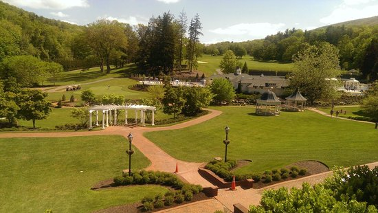 The Omni Homestead Resort : View from the Jefferson dining deck