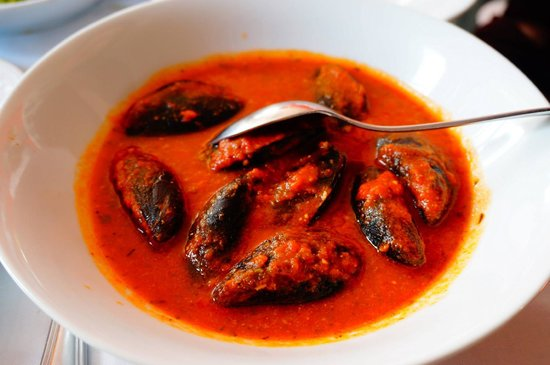 Trattoria Dal Billy: Stuffed mussels in marinara sauce