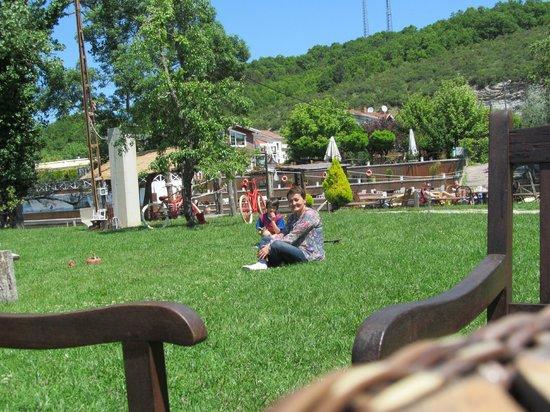 Agva Gizemli Nehir : çimenlerde oturuken