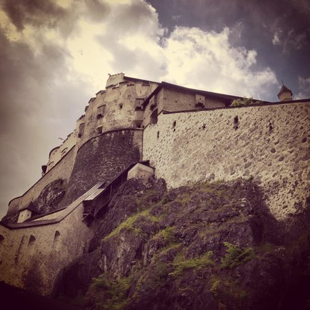 Erlebnisburg Hohenwerfen: Looking back up to the fortress on the walk down