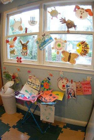 The Sandbox Interactive Children's Museum: Crafts made by the children that day