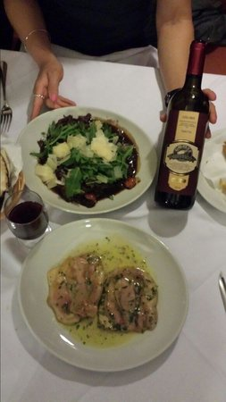 Goose : Veal done two ways... House special on top and Saltimboca