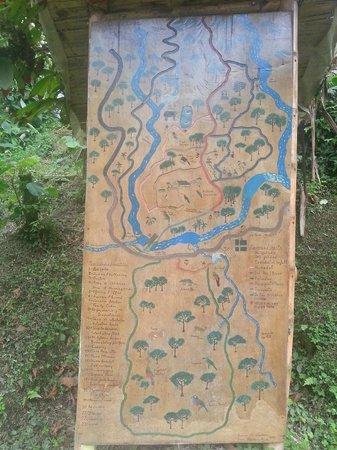 Maquipucuna Reserve: Mapa das trilhas da reserva