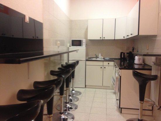 Katona Apartments: Cocina